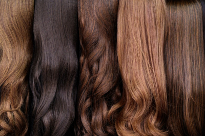 different shade of colored wigs